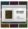 seamless splash patterns set vector image