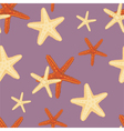 Seamless starfish pattern vector image vector image