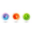 set brush strokes watercolor circle multicolor vector image vector image