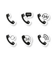 set of handset stickers icons vector image vector image