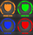 Shield sign icon Protection symbol Fashionable vector image
