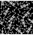 skeleton dancing seamless pattern vector image vector image