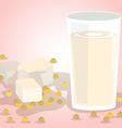 Soy milk vector image vector image