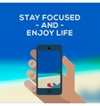 summertime concept smartphone make picture vector image vector image