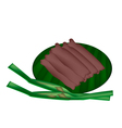 Thai Sweetmeat Made of Flour Coconut and Sugar vector image vector image