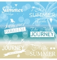 Vintage summer calligraphic elements design labels vector image vector image