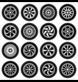 wheels for cars vector image vector image