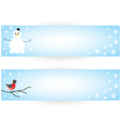 Winter stickers vector image vector image