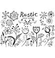 Doodle flower vector image