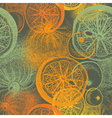 Wallpaper seamless pattern with oranges citrus vector image