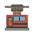 cable way cabine gondola vacation travel vector image