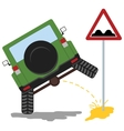 offroad car pissing color vector image