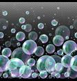 3d soap transparent bubbles water spheres vector image vector image
