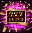 777 casino banner vector image