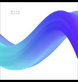 abstract tech spiral 3d wave background vector image vector image