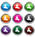 add new user account set 9 collection vector image vector image