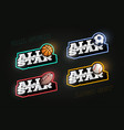 all star retro style sport logo set modern vector image