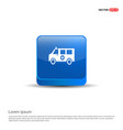 ambulance icon - 3d blue button vector image vector image