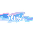background with winter lettering vector image vector image
