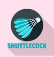 blue shuttlecock logo flat style vector image