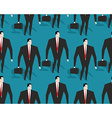 Businessman at work seamless pattern Manager Casey vector image
