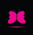 butterfly in pink color vector image