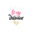 calligraphy element for valentine day greetings vector image