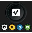 Check mark sign icon Checkbox button vector image