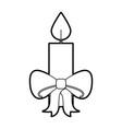 christmas candle bow burning celebration vector image vector image