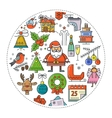 Christmas round banner vector image