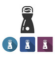 coffee grinder icon in different variants vector image vector image
