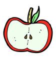 comic cartoon apple half vector image vector image