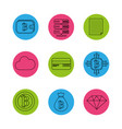 digital and electronic buttons elements to vector image vector image