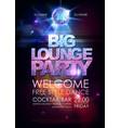 disco ball background disco big lounge party vector image vector image