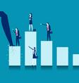 economic pressures giants breaking vector image