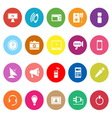Electronic flat icons on white background vector image vector image
