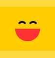 emoji smile icon symbol on yellow background vector image vector image