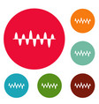 equalizer play icons circle set vector image vector image