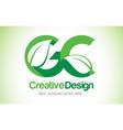 gc green leaf letter design logo eco bio leaf vector image vector image