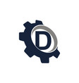 gear logo letter d vector image vector image
