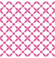 geometric cross flower seamless pattern vector image vector image