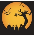Grunge Halloween night background vector image vector image