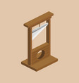 guillotine isometric vector image vector image