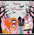 halloween cute cartoon vector image vector image