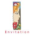 I invitation vector image vector image