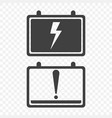 icons full charge and discharge the car battery vector image vector image