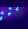isometric bitcoin mining computers vector image vector image