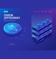 isometric secure global financial network vector image