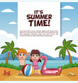 it summer time card vector image vector image