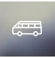 Minibus thin line icon vector image
